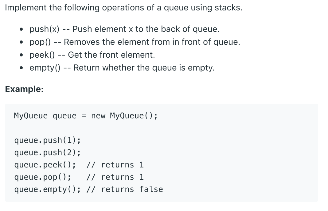 Implement Stack using Queues